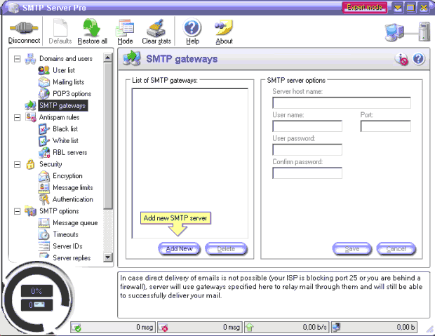 SMTP Server Pro Screenshot