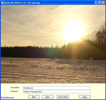 Quick EXIF Writer Screenshot