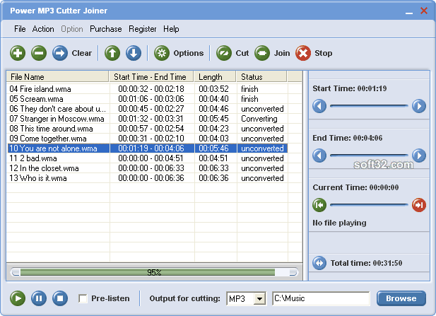 Power MP3 Cutter Joiner Screenshot 3