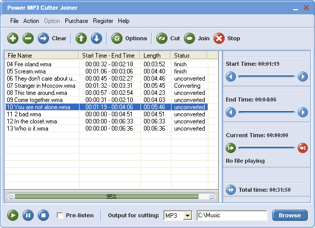 Power MP3 Cutter Joiner Screenshot 1