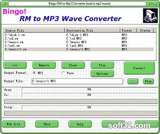 Bingo! RM to MP3 Wave Converter Screenshot 3