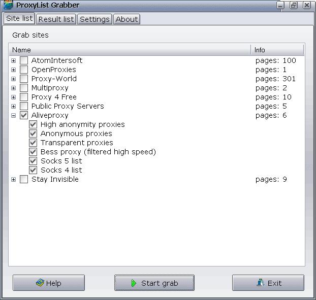 ProxyList Grabber Screenshot