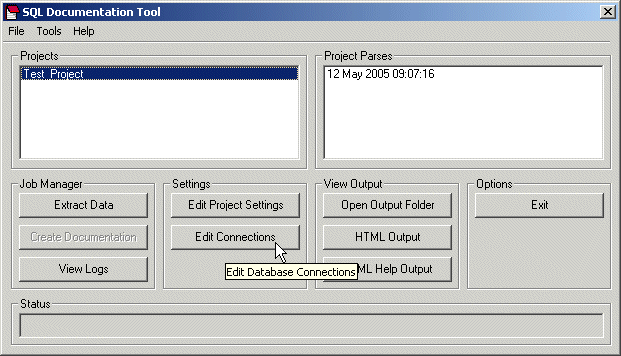 SQL Documentation Tool Screenshot