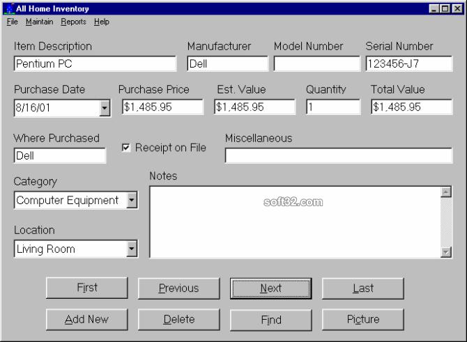All Home Inventory Screenshot 3