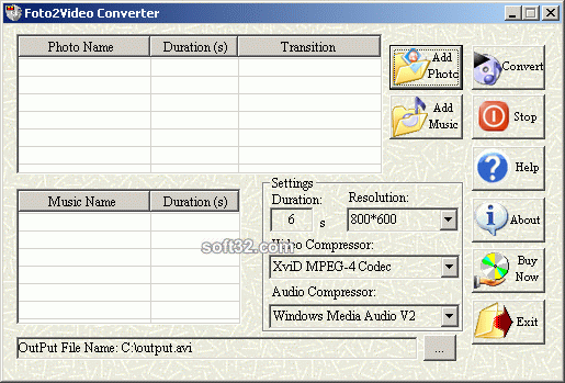 Foto2Video Converter Screenshot 1