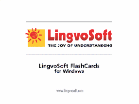 LingvoSoft FlashCards English <-> Bosnian for Windows Screenshot