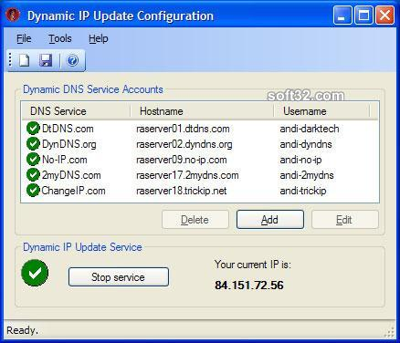 Dynamic IP Update Service Screenshot 3