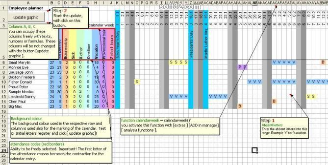 EasyEx absent planner Screenshot