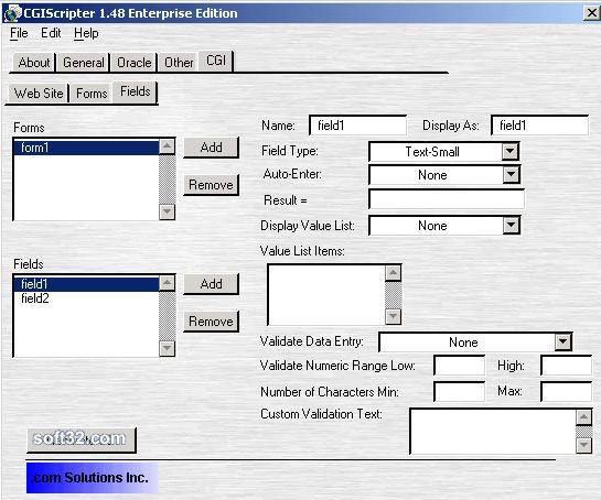 CGIScripter Screenshot 2
