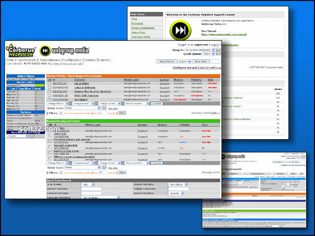 Cerberus Helpdesk Screenshot 1