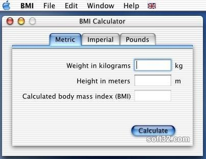 BMI Calculator Screenshot