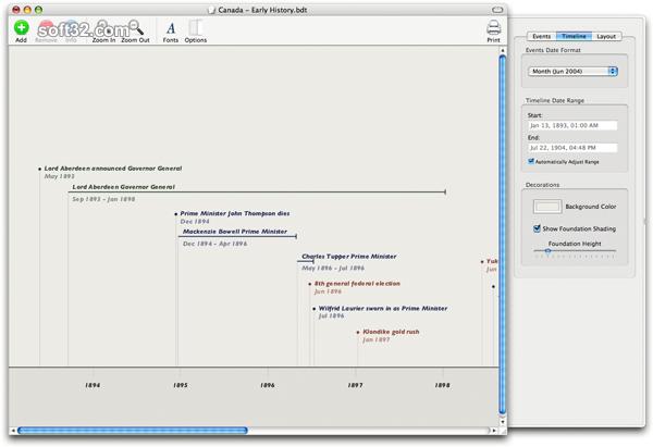 Bee Docs' Timeline Screenshot