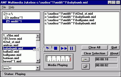AMF Multimedia Jukebox Screenshot