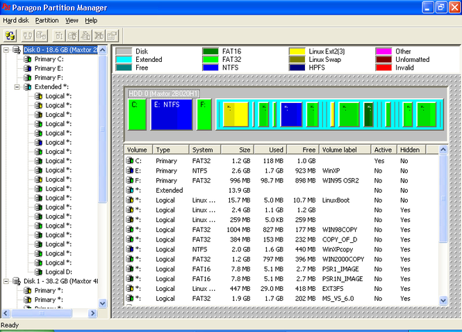 Partition Manager 11 Personal Screenshot 1