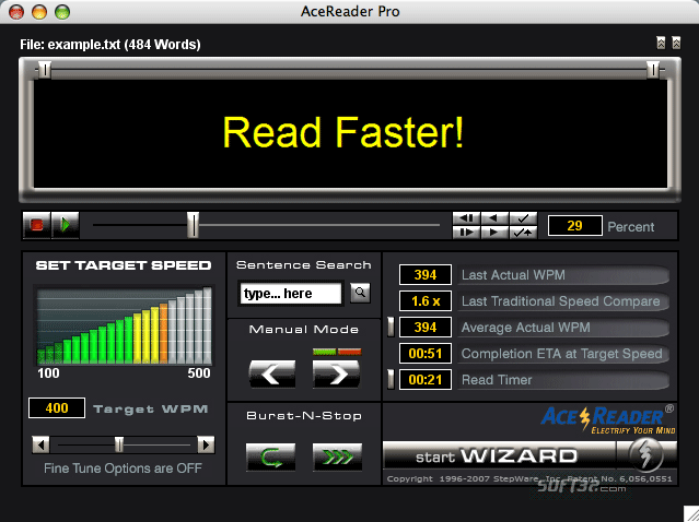 AceReader Pro Deluxe (For Mac) Screenshot 2