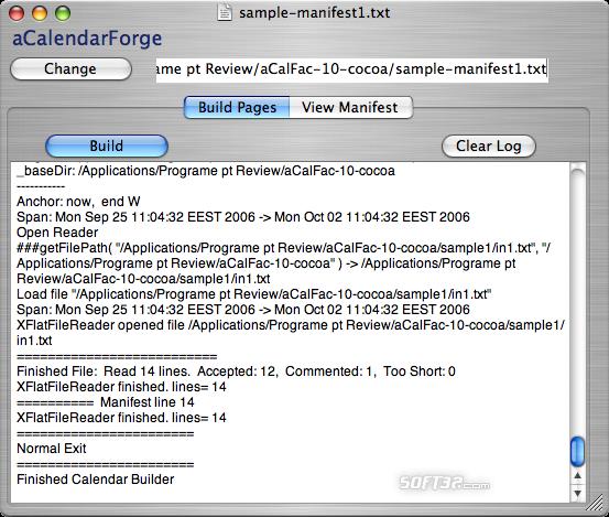 aCalendarForge Screenshot 2