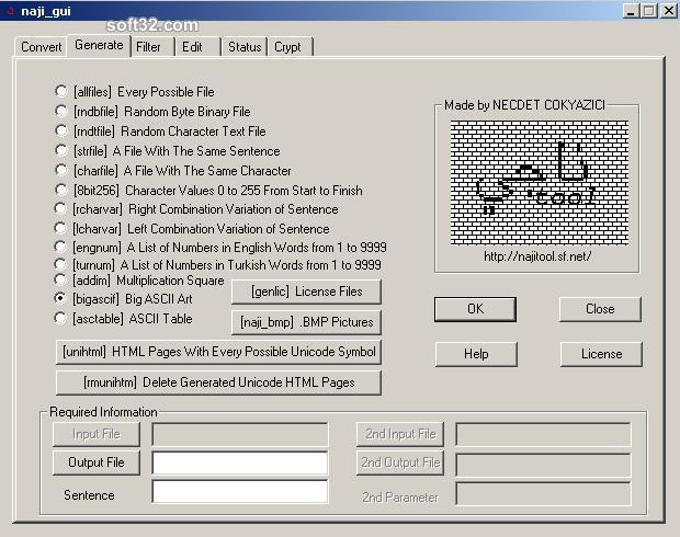 najitool GUI Screenshot 1