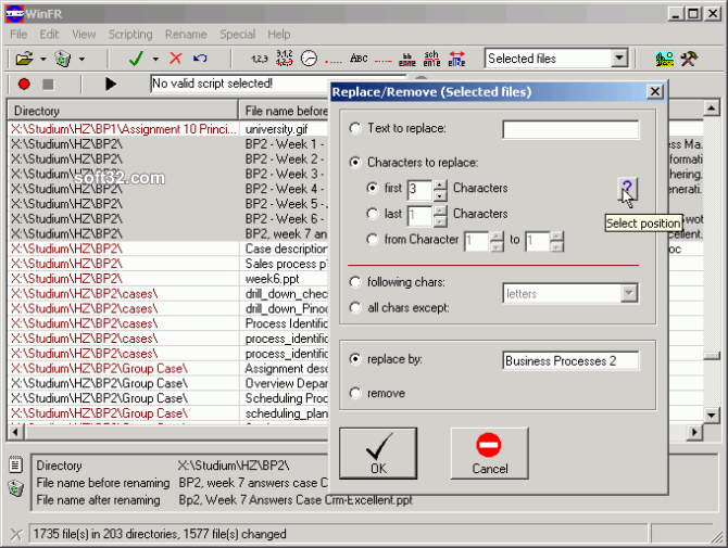 WinFR File Renamer Screenshot 2