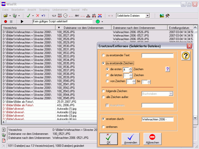 WinFR File Renamer Screenshot 3