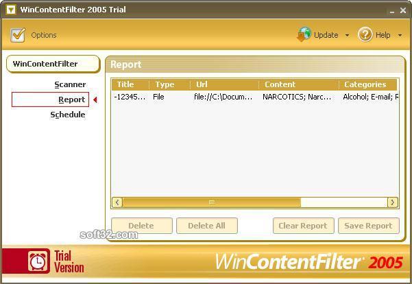 WinContentFilter 2005 Screenshot 1