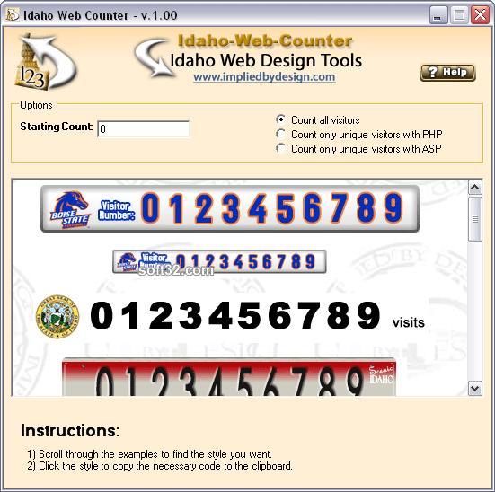 Idaho-Web-Counter Screenshot 3