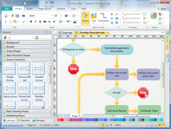 Edraw Flowchart Software Screenshot 1