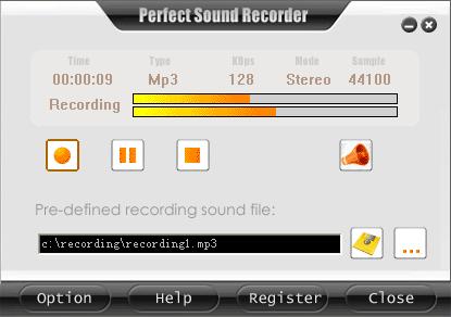 Perfect Sound Recorder Screenshot 1