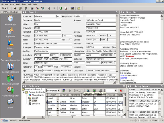Swiftpro CVPlus Visual Recruitment Software Screenshot 1