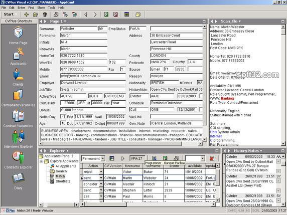 Swiftpro CVPlus Visual Recruitment Software Screenshot 2