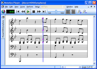 Notation Player Screenshot