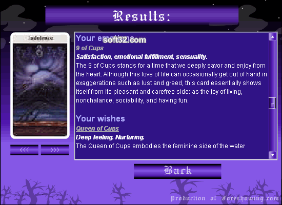Foreshowing - Tarot Cards Reading Screenshot