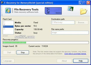F-Recovery for MemoryStick Screenshot 2