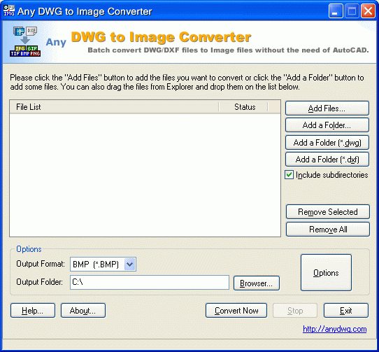 DWG to TIF Screenshot