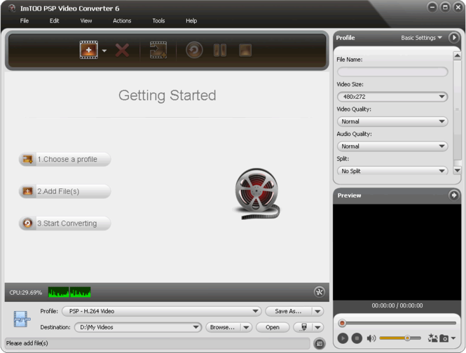 ImTOO PSP Video Converter Screenshot 1