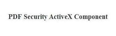 PDF Security ActiveX Screenshot