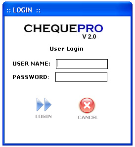 ChequePRO Cheque Printing Writing System Screenshot
