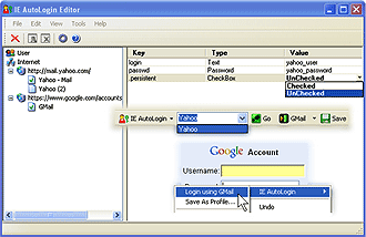 IE AutoLogin Screenshot 1