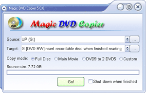 Magic DVD Copier Screenshot 1