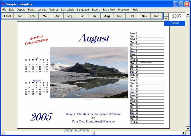 Simply Calenders Screenshot 3