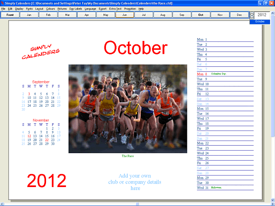 Simply Calenders Screenshot