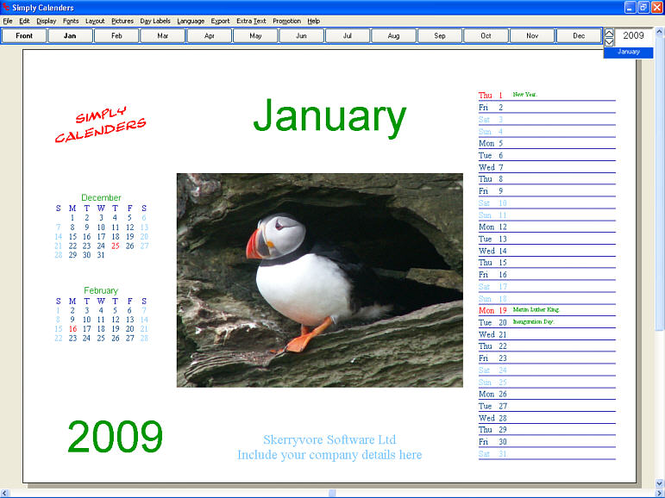 Simply Calenders Screenshot 2
