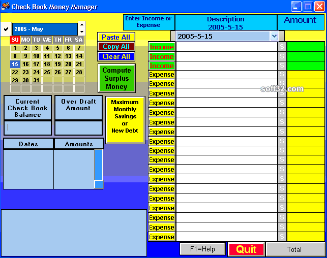 Check Book Money Manager Screenshot