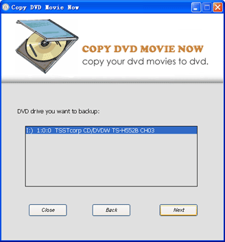 Copy DVD Movie Now Screenshot