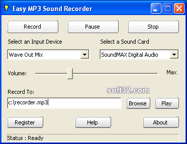 KYDSOFT Easy MP3 Sound Recorder Screenshot 3