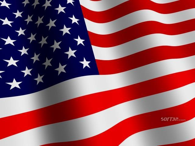 3D US Flag Screensaver Screenshot 3