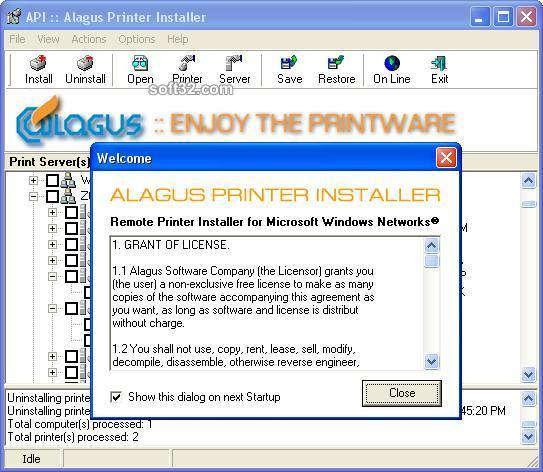 Alagus Printer Installer Screenshot