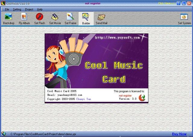 Cool Music Card Screenshot