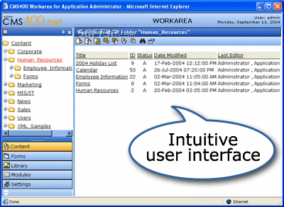 Ektron CMS400.NET Screenshot