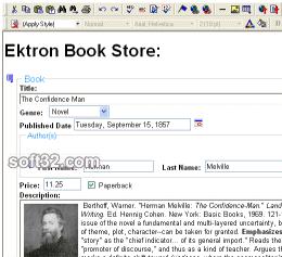 Ektron eWebEditPro+XML Screenshot