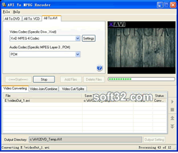 AVI To MPEG Encoder Screenshot 2